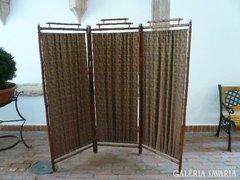 Antik szecessziós paraván nád, bambusz
