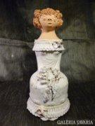 Nagy méretű Antalfiné Szente Katalin kerámia szobor 27 cm