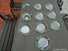 Antik üveg kompótos készlet 10 db -os
