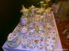 LUXUS PUR! ANTIK VIKTORIA 320db. komplett HERENDI porcelánok
