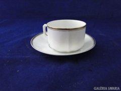 6437 Antik jelzett arany szegélyes teáscsésze +alj