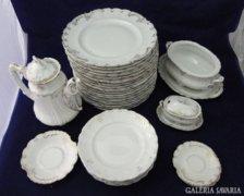 6446 Antik osztrák 32 darabos porcelán étkészlet