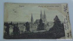 Zágráb 1913 régi helytörténeti képeslap