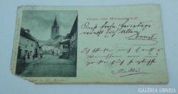 Múltidéző Hermannstadt- Nagyszeben antik képeslap üdvözlőlap a régi időkből 1913