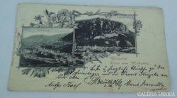 Ritka helytörténeti Mehádia képeslap