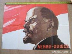 Lenin plakát eredeti Viktor Ivanov jelzett, számozott AKCIÓ