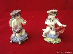 8966 Igényes műgyanta kisméretű angyal pár