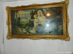 FR. S. Matek:  Szűz Mária Jézussal hatalmas szentkép blondel