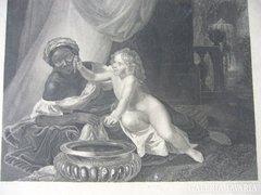 ROMANTIKUS KÉP rézmetszet JUDIT 1868