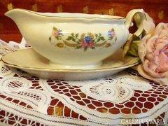 Szép virágos szószos, német porcelán