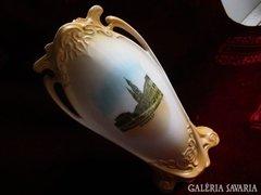 Szecessziós BUDAPEST látkép váza VICTORIA 1902 M: 24,50 cm