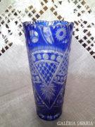 Kék kristály váza