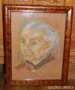 Jankay Tibor eredeti festmény -öregasszony portré