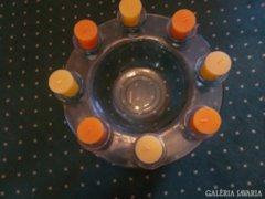 Üveg gyertyataró-tál