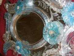 Antik muránoi tükör 41 x 30 cm