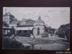 Cseh Karlsbad  0002  Stadtpark  1911    RK