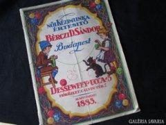 1926 kézimunka katalógus részben szines 64 oldal