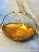 Gyönyörű megmunkálású szecessziós sárgaréz lemez kosár