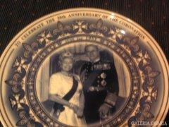 Az angol királyi pár  , dísztányér  , Wedgwood  porcelán