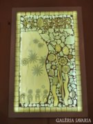 Piszkátor Ildikó: Flowers - üvegmozaik kép, lámpa