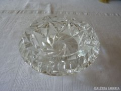 Nagy ólomkristály hamutál - big cut crystal glass ashtray