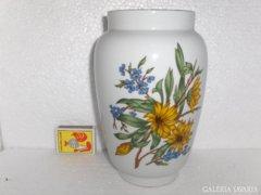 Zsolnay virágos váza - 19 cm magas
