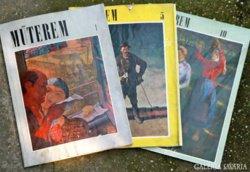 Műterem, művészeti folyóirat 3 szám