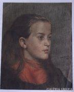 Ismeretlen művész: Leányportré,