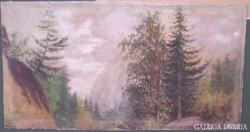 Telepy Károly (1828-1906): Hegyi tájkép