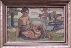 Ismeretlen festő: Anya gyermekével, 1920 k.