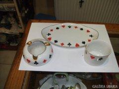 Porcelán dohányzó szett