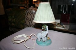 Nagyon kedves elefántos kerámia lámpa gyerekszobába