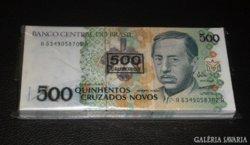 100 db,SORSZÁMKÖVETŐ BRAZIL 500 CRUZ UNC BANKJEGY KÖTEG, EXTRA RITKA GYŰJTEMÉNY, LUXUS AJÁNDÉK