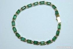 Smaragd - gyémánt karkötő