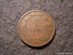 Ausztria  1 krajcár   1881
