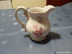 Zsolnay régi, virágos tejkiöntő (29)