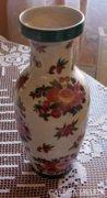 Régi, jelzett szeladonmázas váza