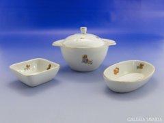 6935 Régi mesefigurás porcelán tárgyak 3 db