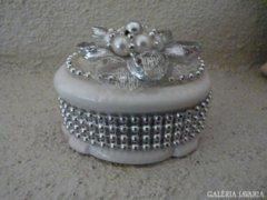 Gyöngyös, kerámia ékszertartó, gyűrűtartó (50)