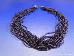 0A433 Igényes gyöngyfűzött bizsu női nyakék