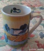 Csésze,bögre táj ábrázolással
