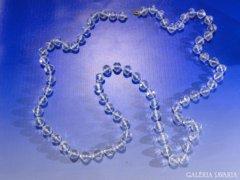 0A443 Áttetsző gyöngyfűzött bizsu női nyaklánc