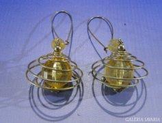 0A493 Retro fém bizsu fülbevaló függő pár