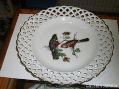 Román porcelán áttört tányér