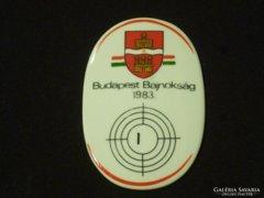 5200 Budapest bajnokság 1983 Hollóházi lövész díj