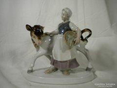 V087 Régi bocis porcelán szobor