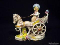 V542 Német porcelán lovasfogat GDR