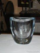 Iparművészeti üveg váza
