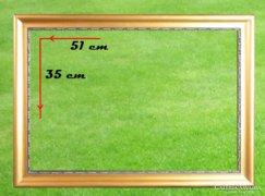 0A613 Régi aranyozott vágható képkeret 35 x 51 cm