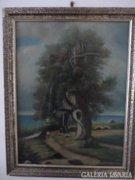Jancsek jelzéssel: A sétáló című festmény